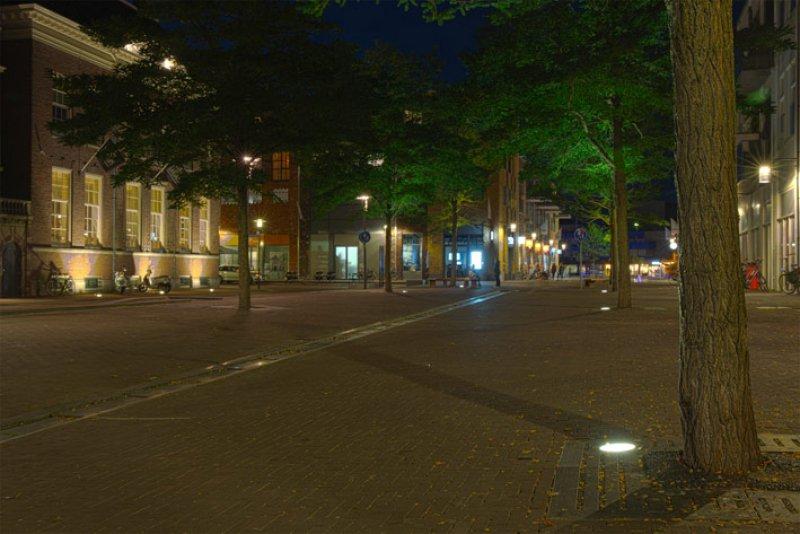 Openbare verlichting Waagplein in Almelo.