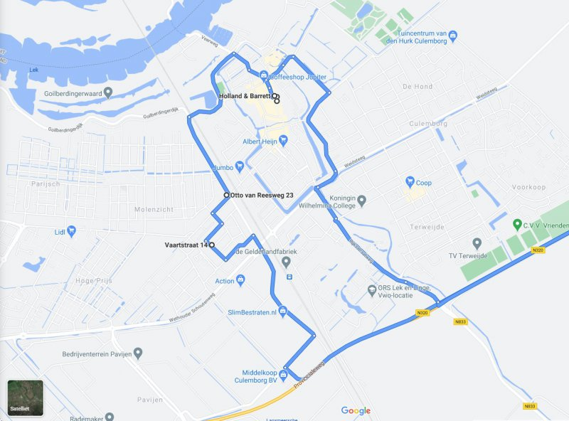 LMS Routebeschrijving Google Maps